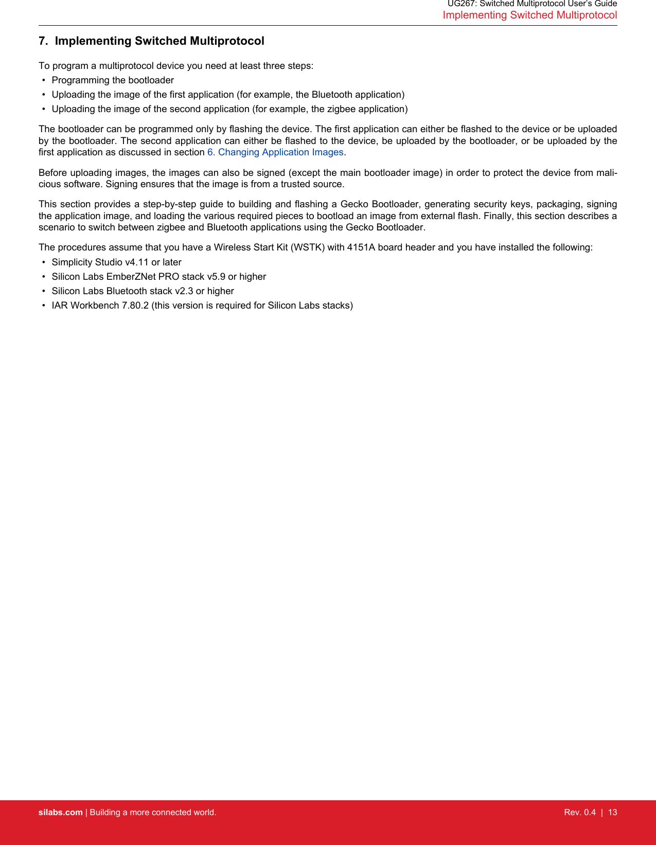 UG267: Switched Multiprotocol User's Guide Ug267 user