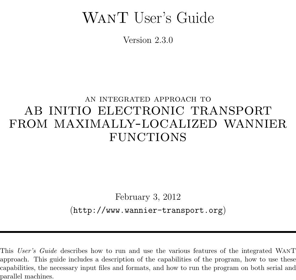 Want Manual