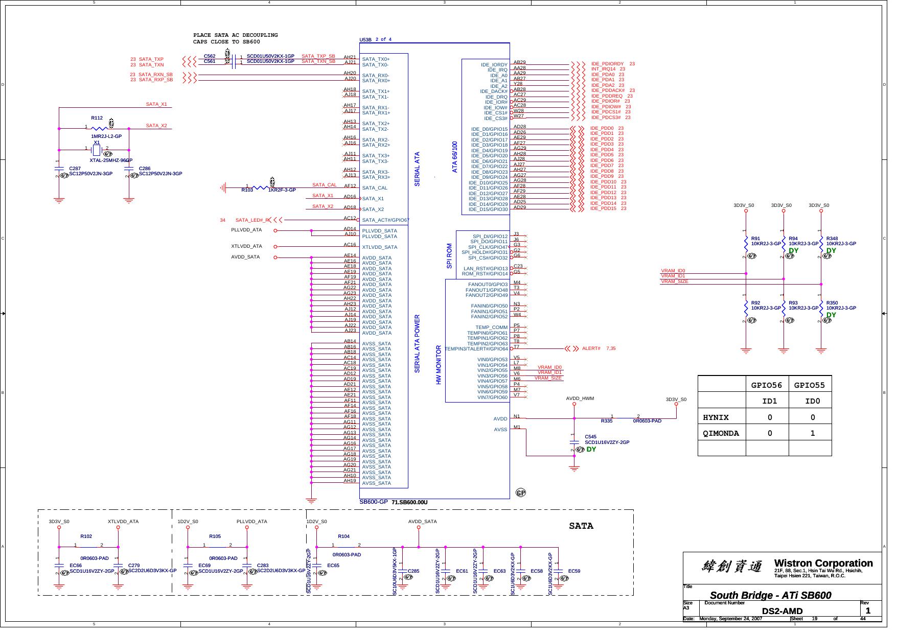 Wistron Spears AMD UMA Schematics  Www s manuals com  R1