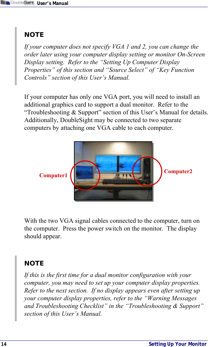 Doublesight Displays Ds 15Xx Users Manual