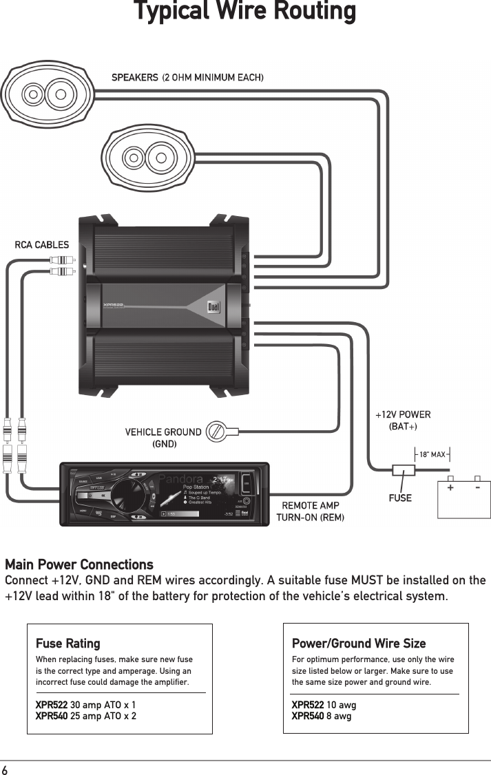 Dual Stereo Amplifier Xpr Users Manual on