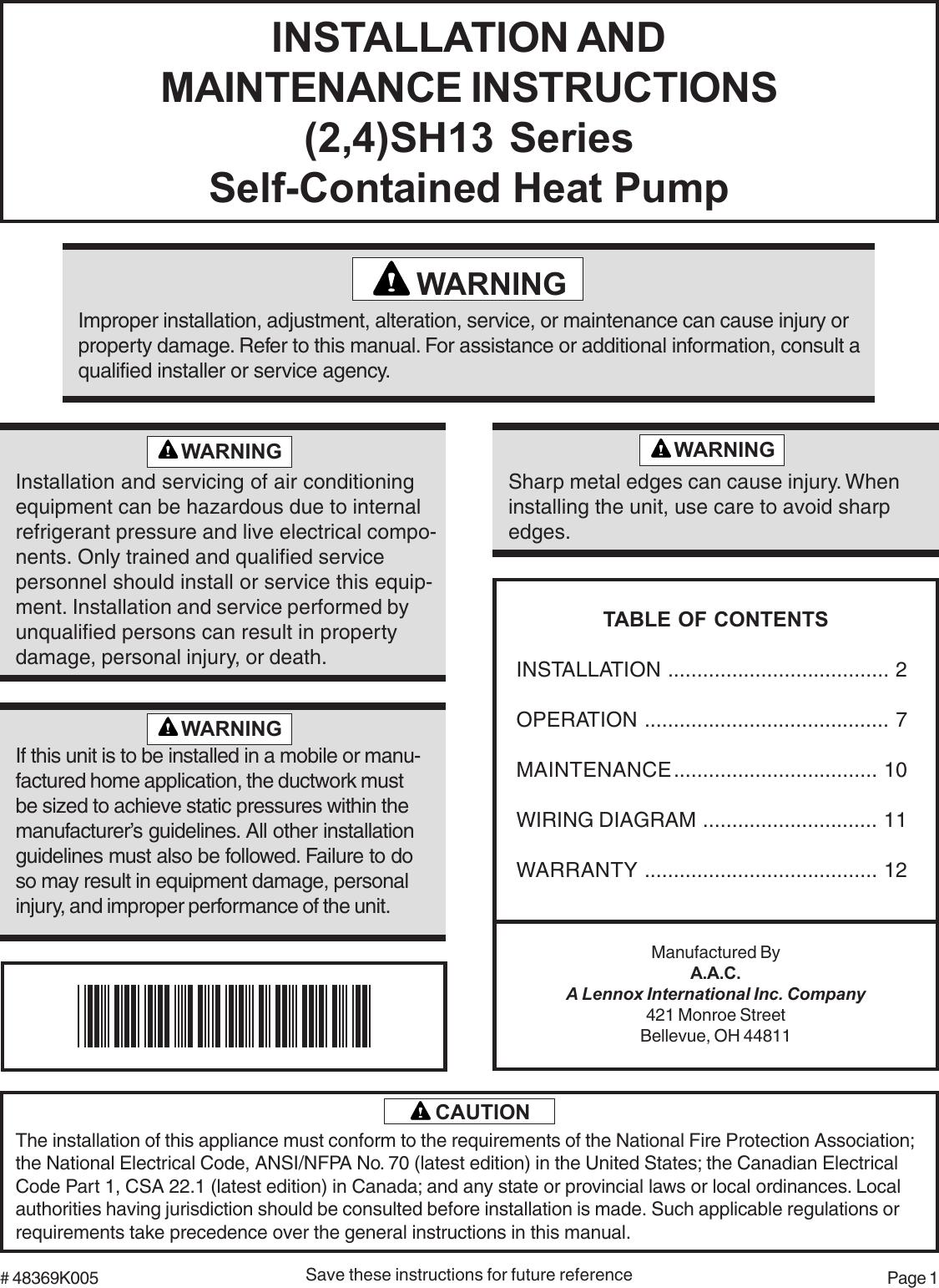 Ducane Heat Pump Wiring Diagram