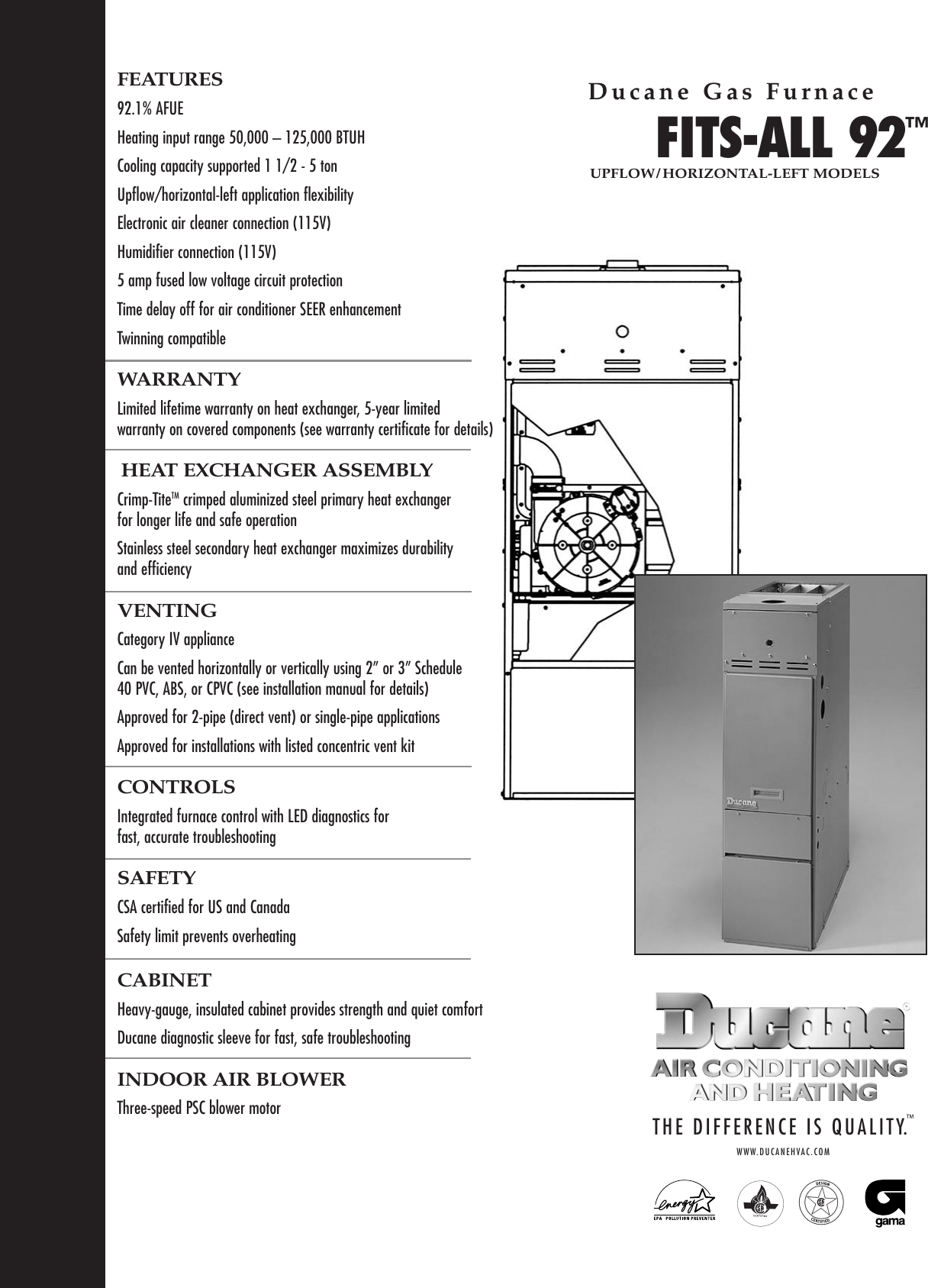 [SCHEMATICS_4ER]  Ducane Hvac Fits All 92 Users Manual 20590702 | Wiring Diagram For Ducane Air Conditioner |  | UserManual.wiki