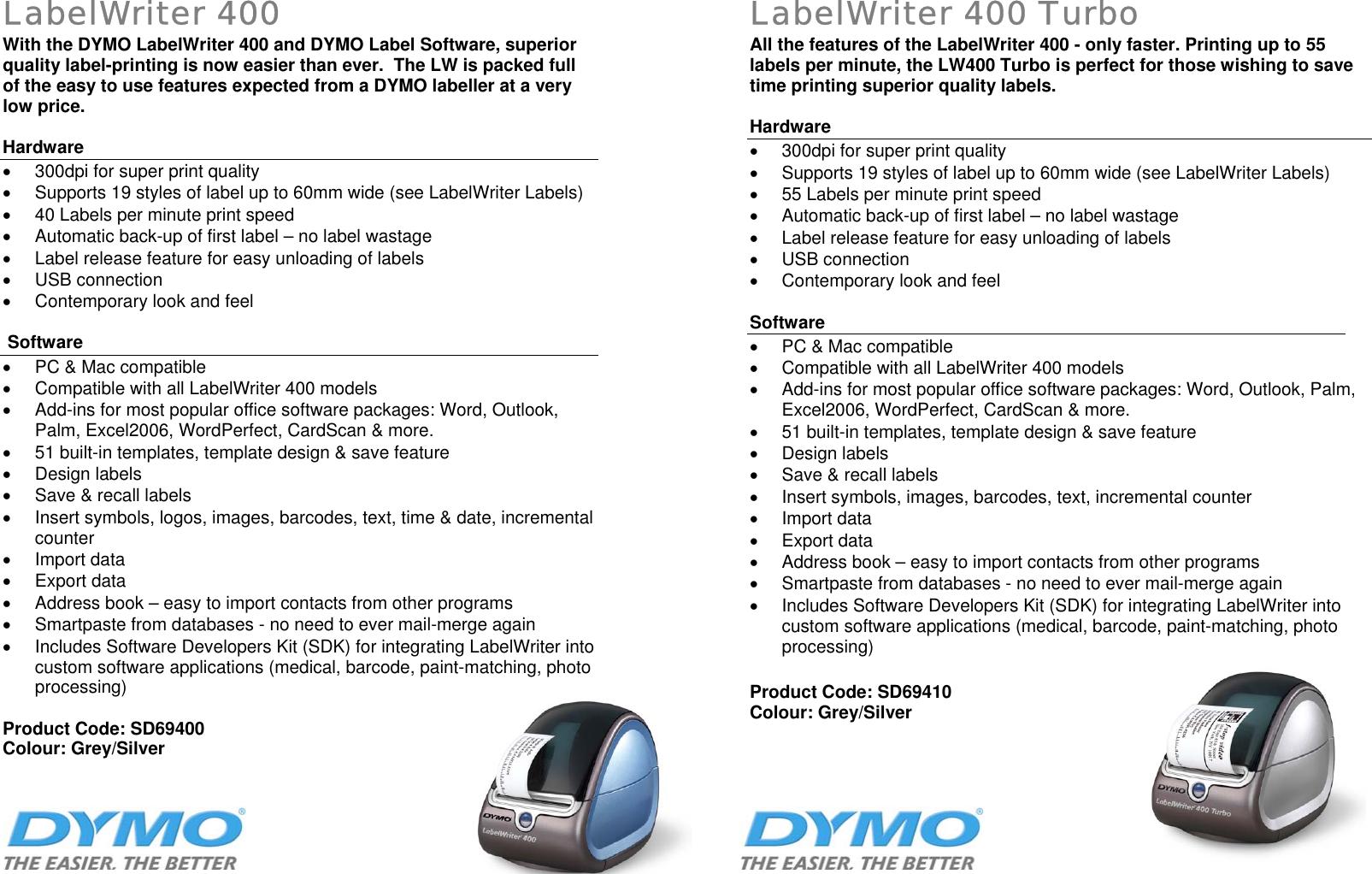 Dymo Labelwriter 400 Ink