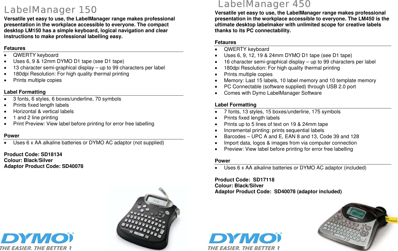 Dymo Sd17293 Users Manual LabelPoint 150