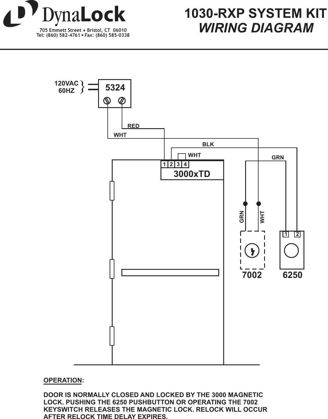 Dynalock Push Button Wiring Diagram Diagrams Locknetics Maglock 1030rxpwd 1030 Rxp System Kit 1030rxp Schematic