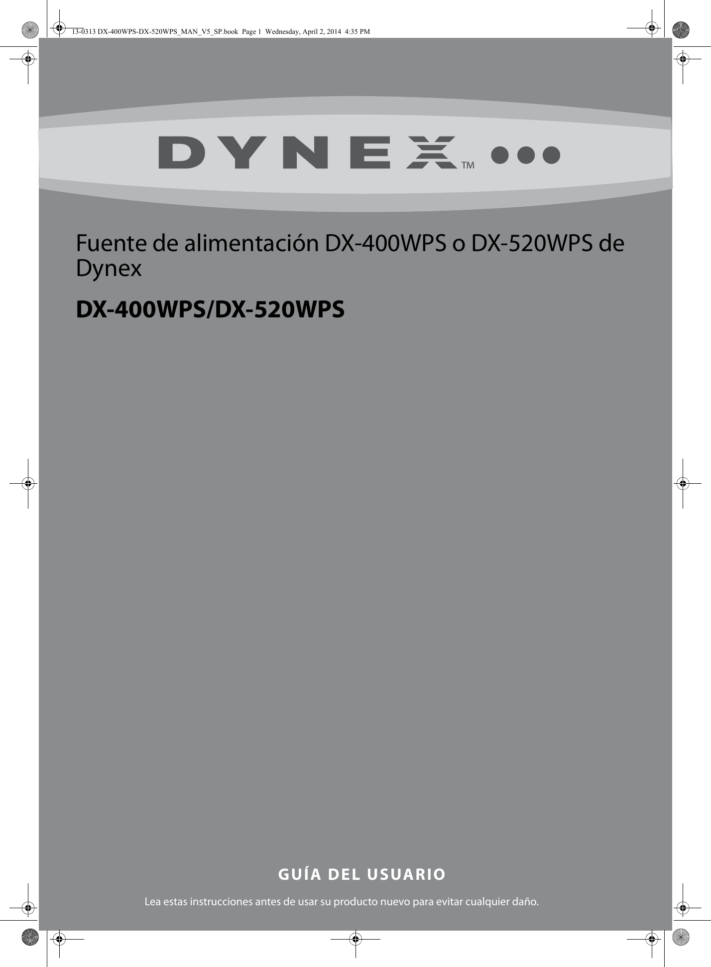 dynex 400 watt atx cpu power supply white users manual 13 0313 dx rh usermanual wiki User Guide Template Quick Reference Guide