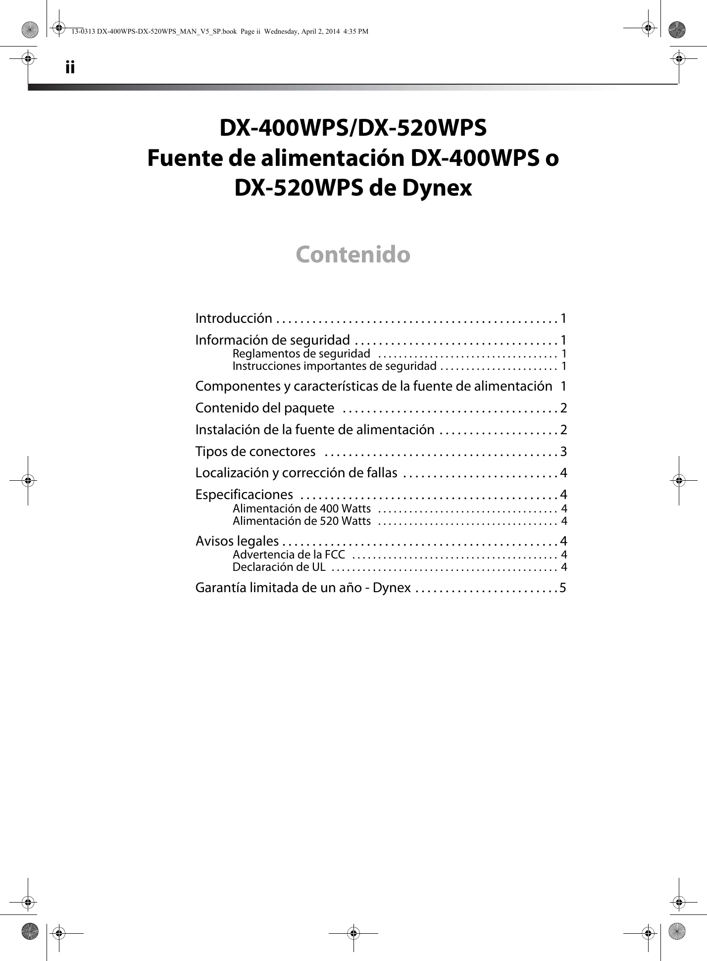 dynex 400 watt atx cpu power supply white users manual 13 0313 dx rh usermanual wiki Quick Reference Guide Example User Guide