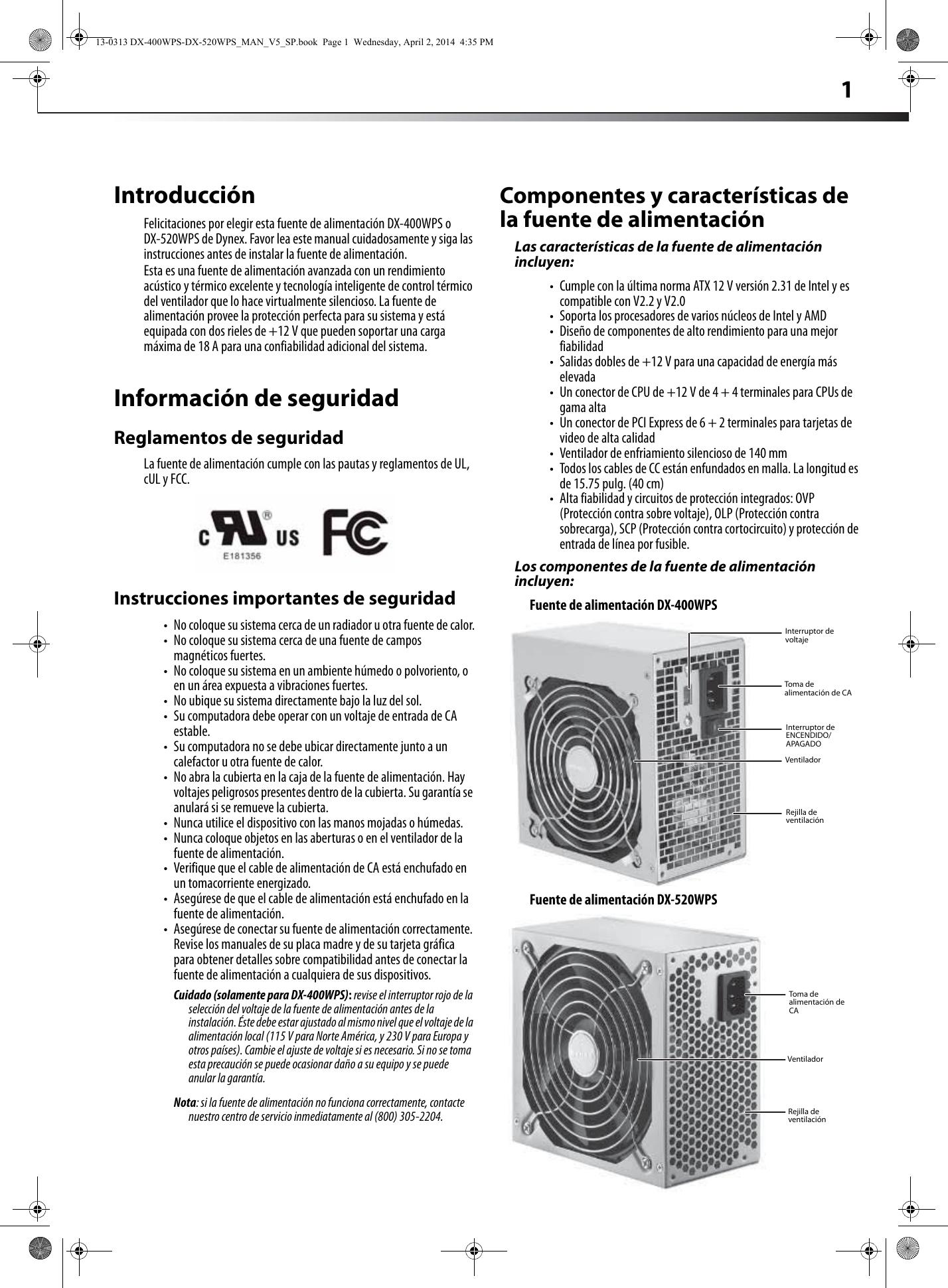 dynex 400 watt atx cpu power supply white users manual 13 0313 dx rh usermanual wiki Clip Art User Guide Kindle Fire User Guide
