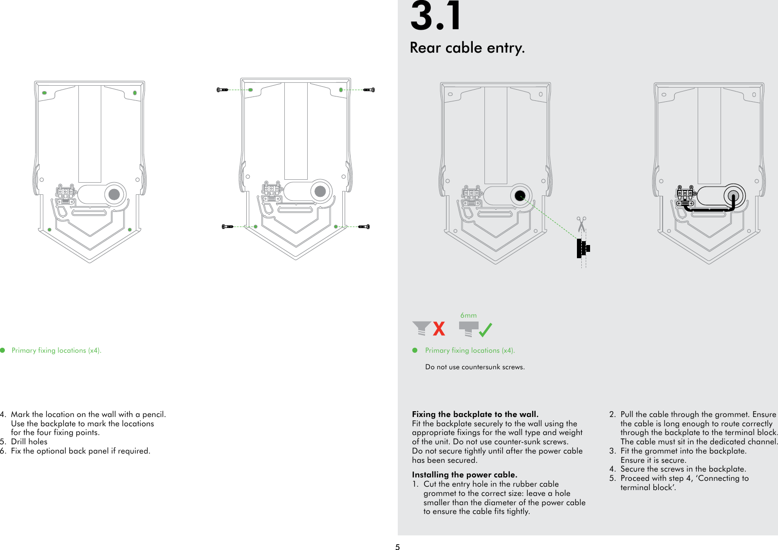 page 5 of 8 dyson dyson airblade v installation guide - Dyson Airblade V