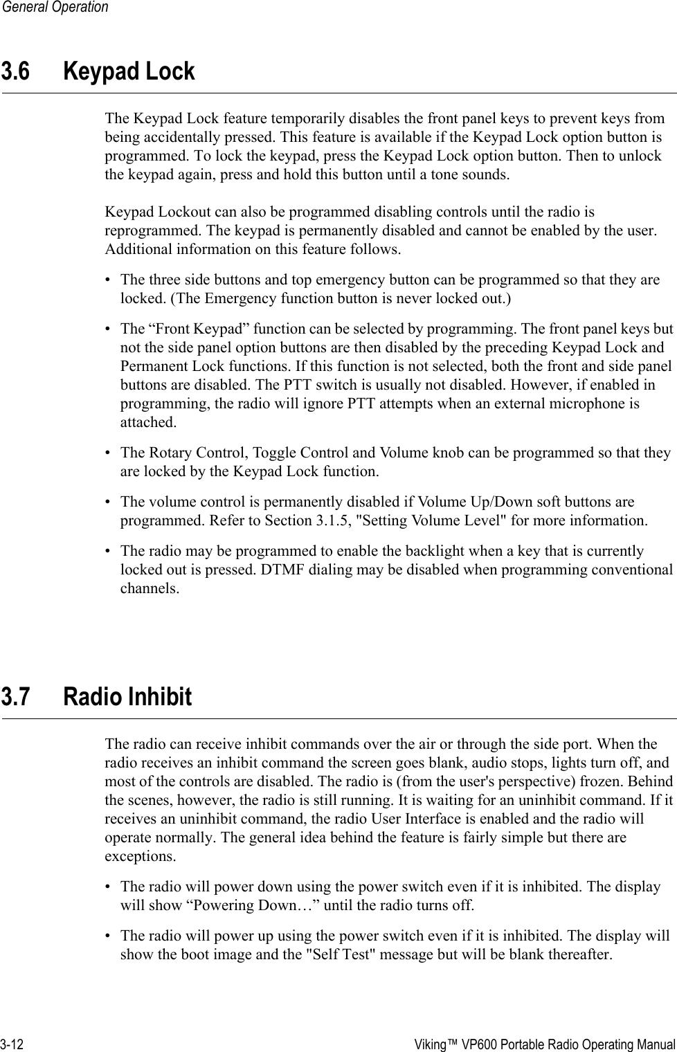 E F Johnson 2425795 VIKING P800 PORTABLE RADIO User Manual ...