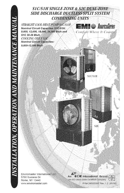Emi Air Conditioner Heat Pumpoutside Unit Manual L0612425 Mini Split Wiring Diagram