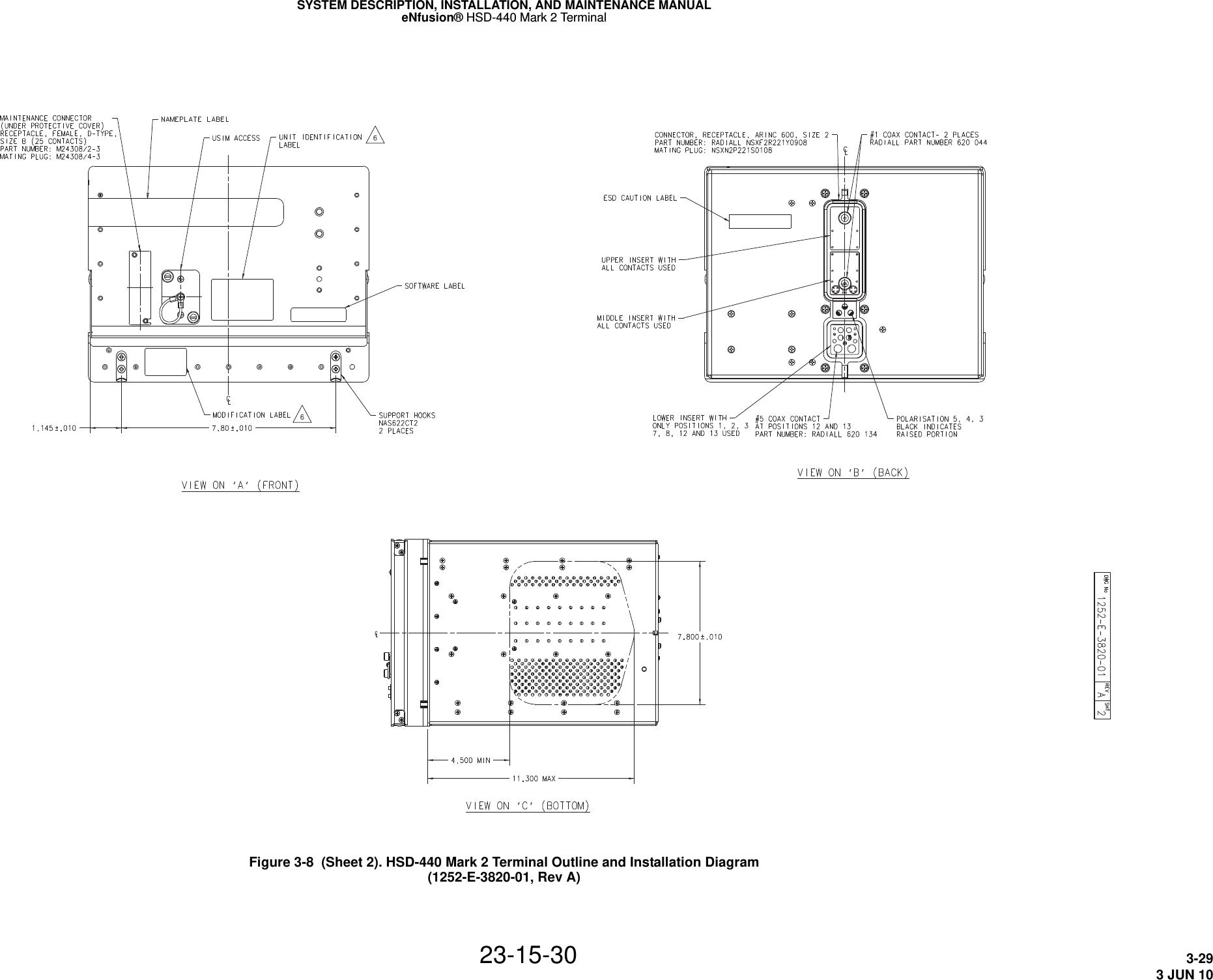EMS Technologies Canada HSD-MK2 Satcom Transeiver User Manual MN