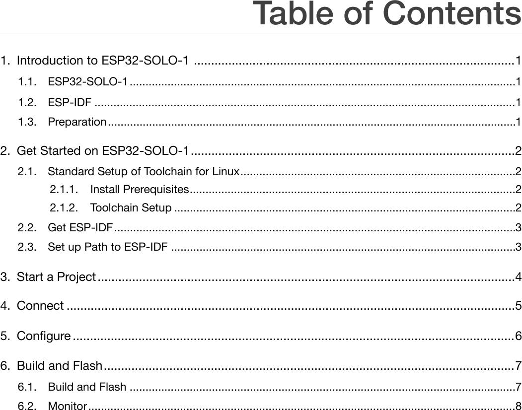 Page 3 of ESPRESSIF SYSTEMS ESP32SOLO1 Wi-Fi & Bluetooth Internet of Things Module User Manual ESP32 SOLO 1 OEM Installation Manual  EN