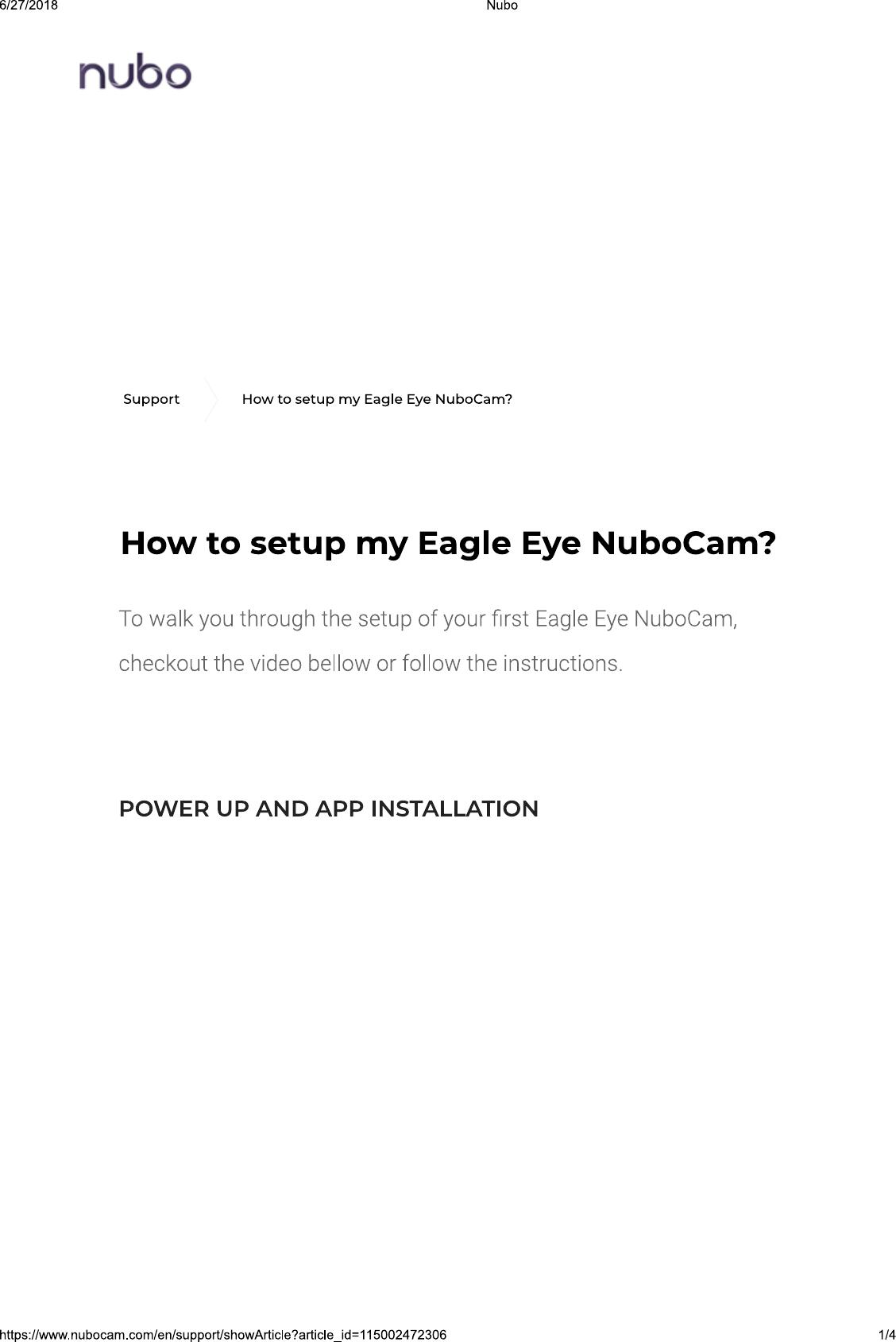 Eagle Eye Networks 1001 IP surveillance camera (Wi-Fi & mobile) User