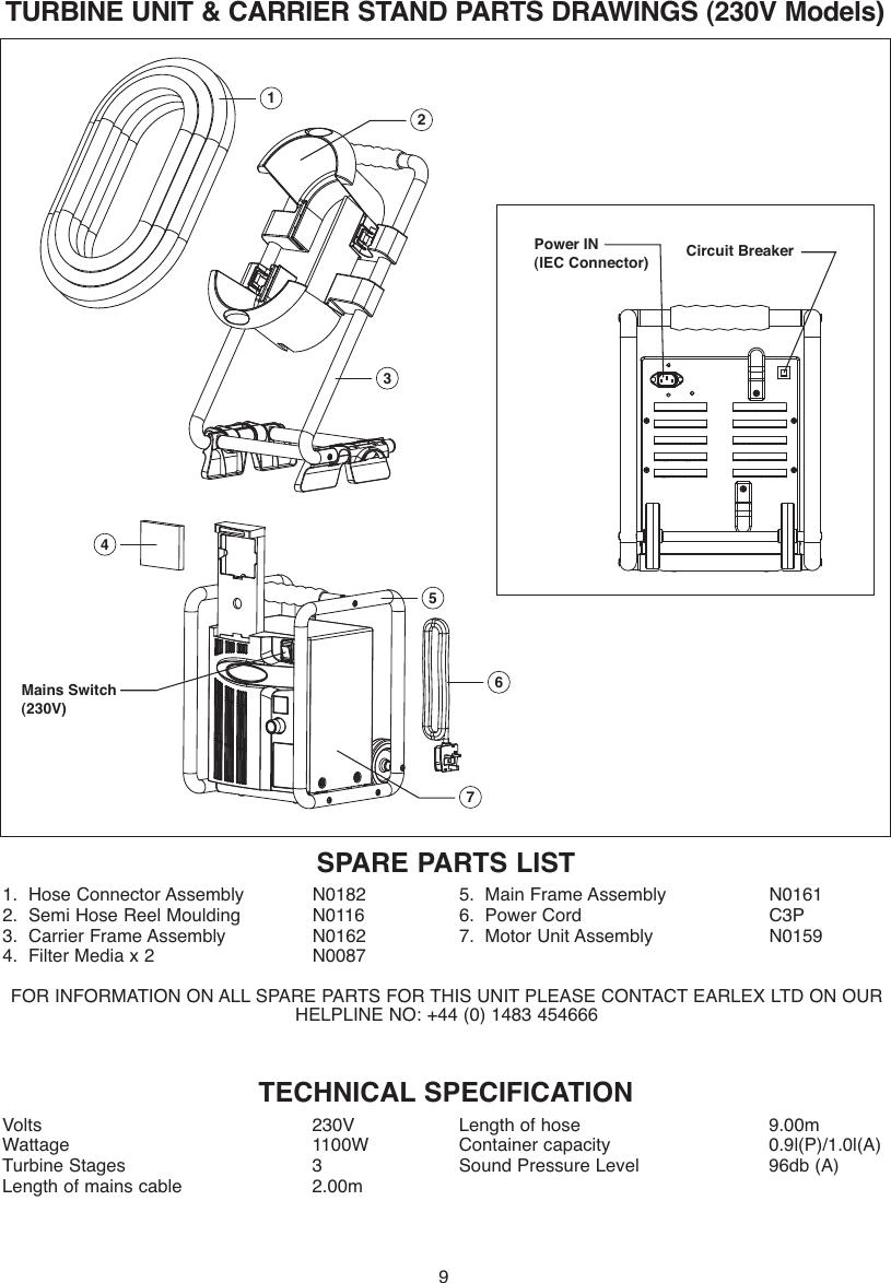 Earlex Paint Sprayer Hv7000 Users Manual L0285 07/04
