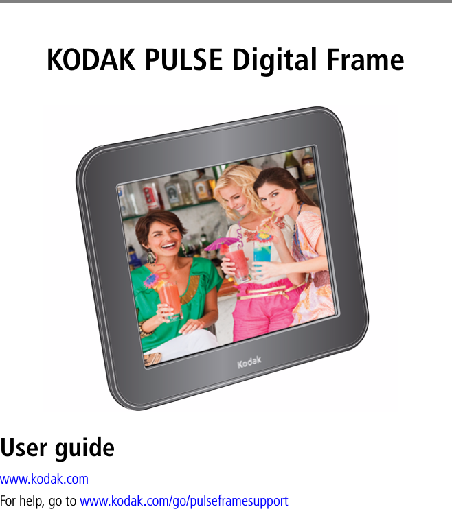 Eastman Kodak Pul1030 Kodak Pulse Digital Frame User Manual Urg 01092