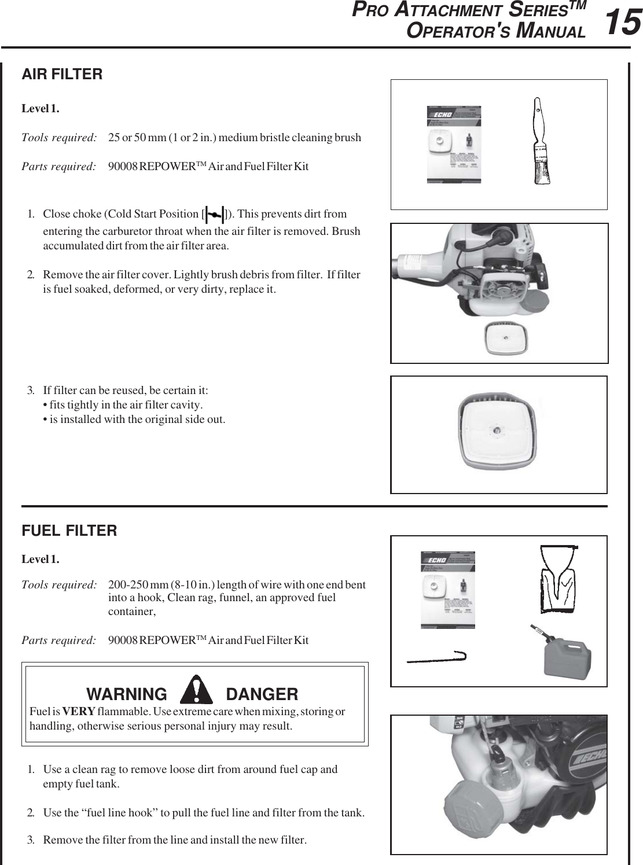 Echo Pro Attachment Series Pas 230 Users Manual PAS231es_041604