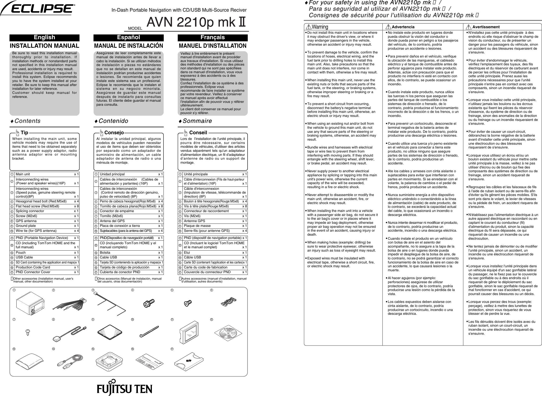 eclipse fujitsu ten avn2210p mkii users manual 3 30110 mk2 a3 new rh usermanual wiki Eclipse AVN5510 Eclipse AVN2454