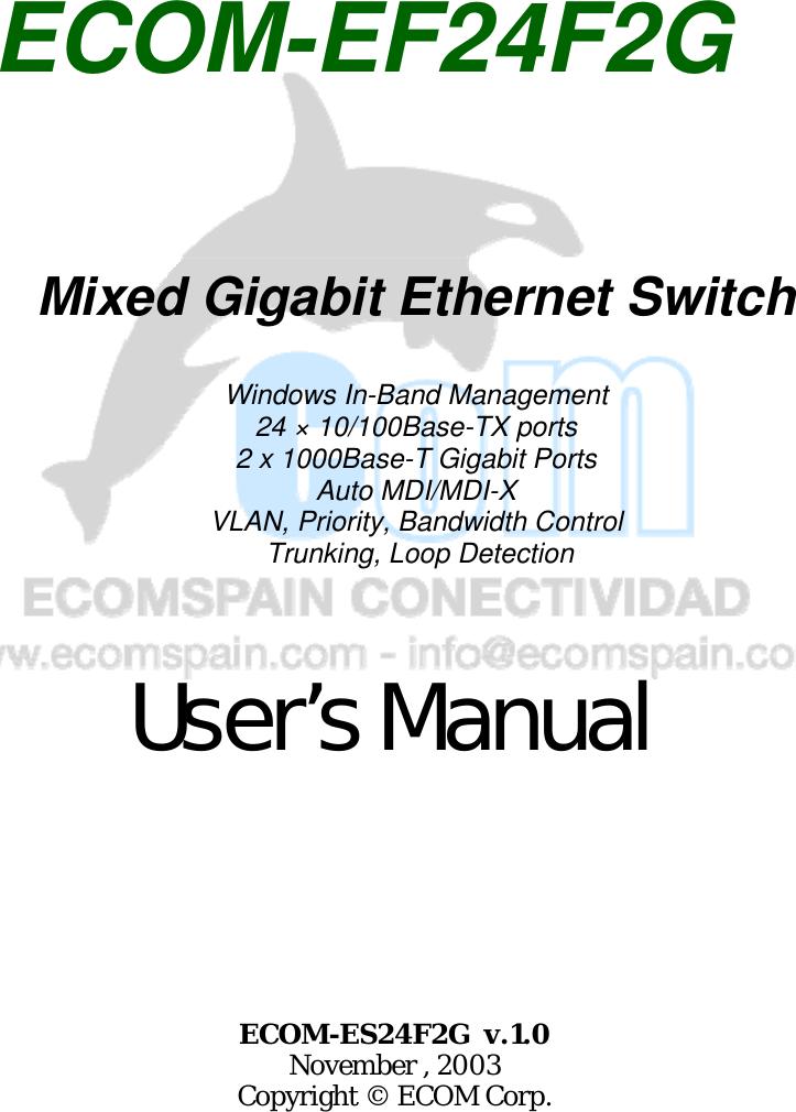 Ecom Instruments Ef24F2G Users Manual Trademarks