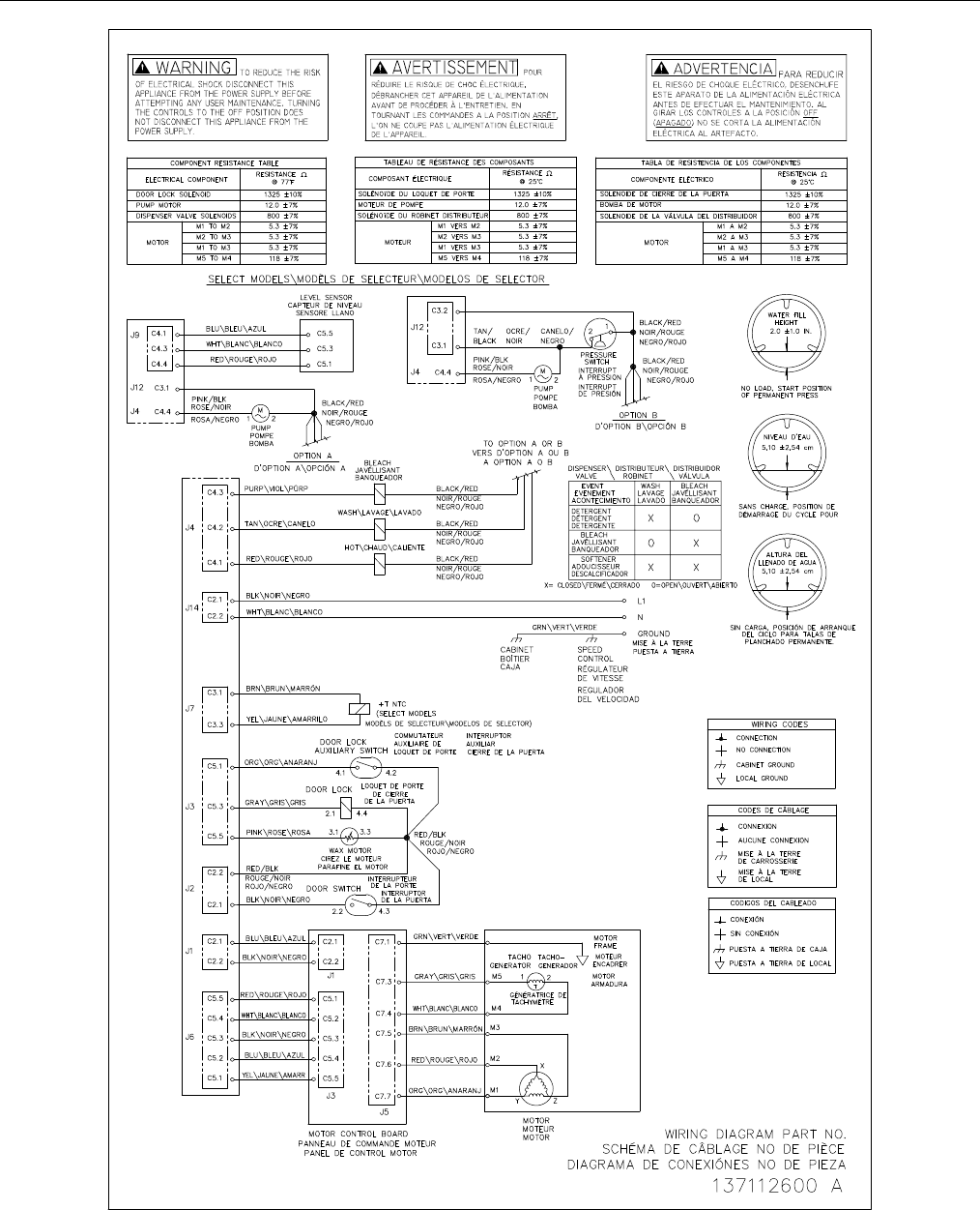 Electrolux Gibson Washer Gltf2940fe2 Users Manual To Begin A Parts Wiring Diagram Publication No 5995535290 Gltf2940f 03 09 8