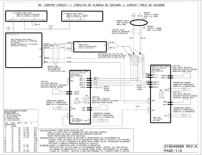 electrolux 30 induction cooktop ew30ic60lb wiring diagram las_catdrw  019470 catdrawing