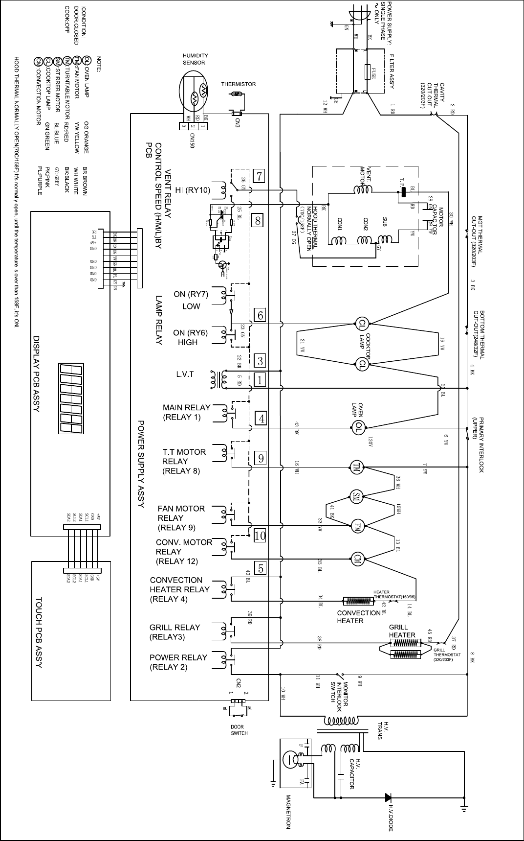Microwave Wiring Diagram