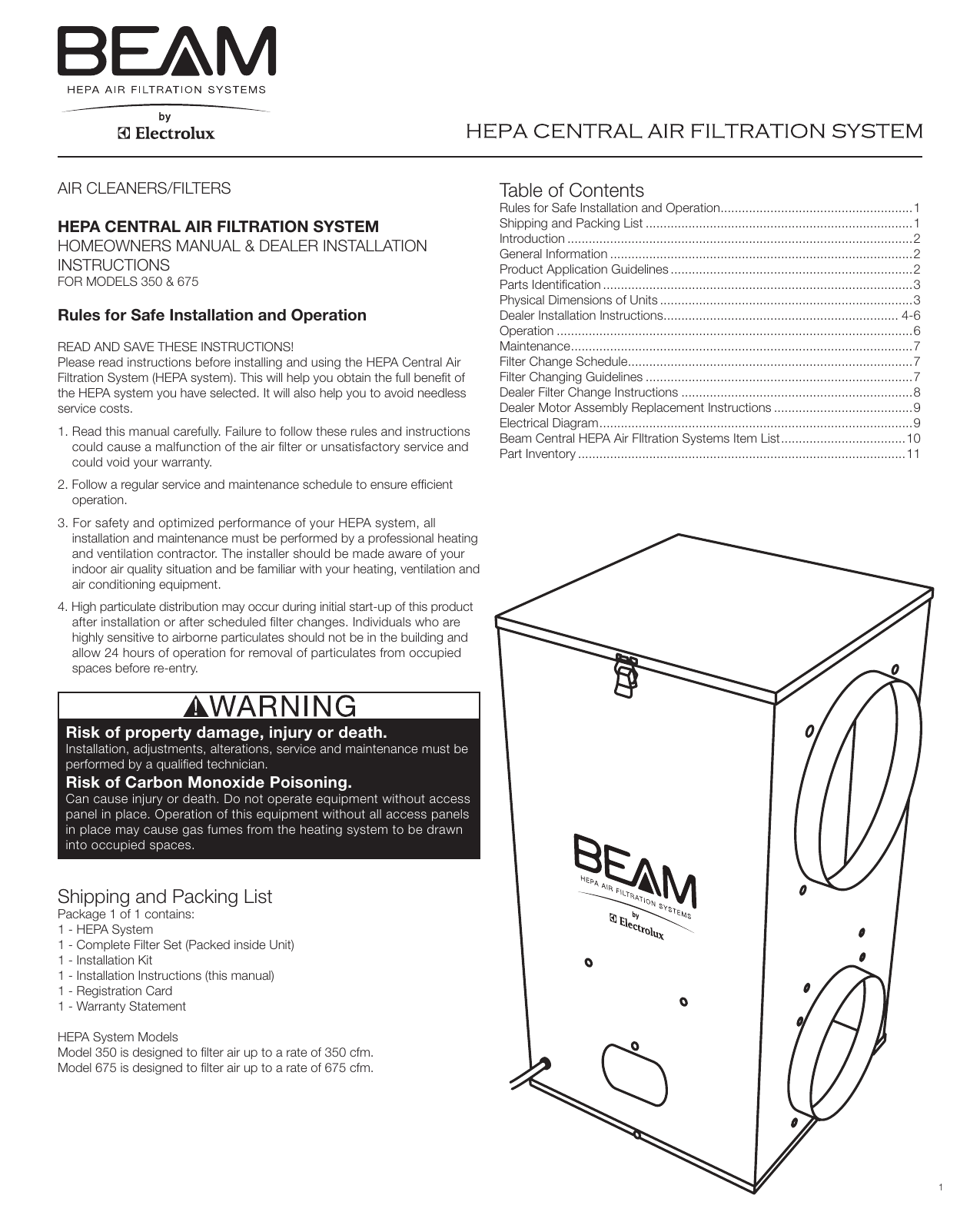 Beam Electrolux Wiring Diagram Schematic Diagrams Vacuum 350 Users Manual Canister Housing