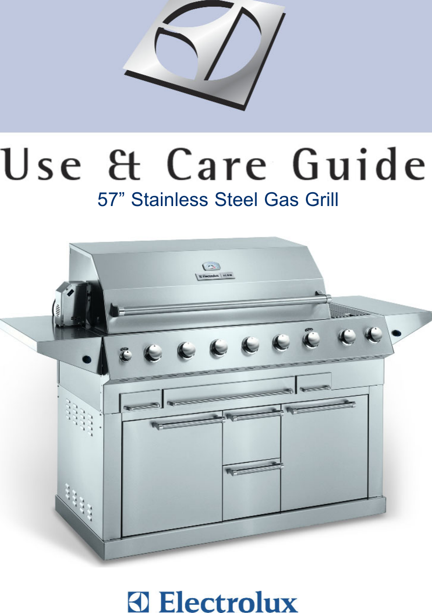 electrolux 57 stainless steel gas grill users manual icon instructions rh usermanual wiki 51-Inch Electrolux Gas Grill Electrolux Icon Grill