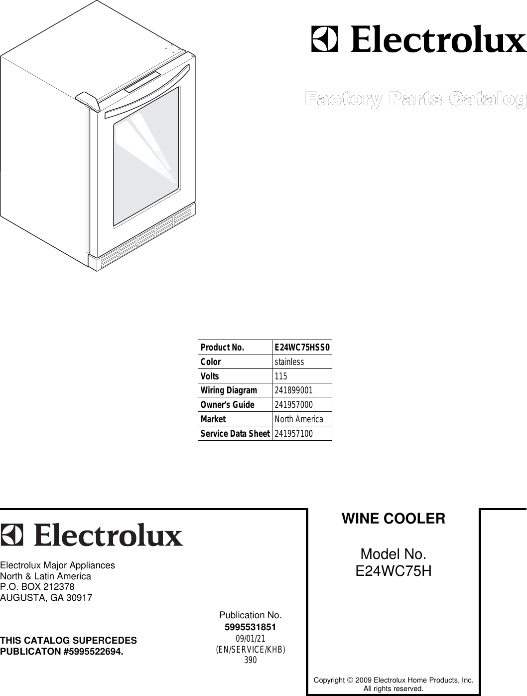Electrolux E24wc75hss0 Users Manual To Begin A Parts Catalog Click Wiring Diagram Photos For Help Your Load Contents In The Top Menu Bar