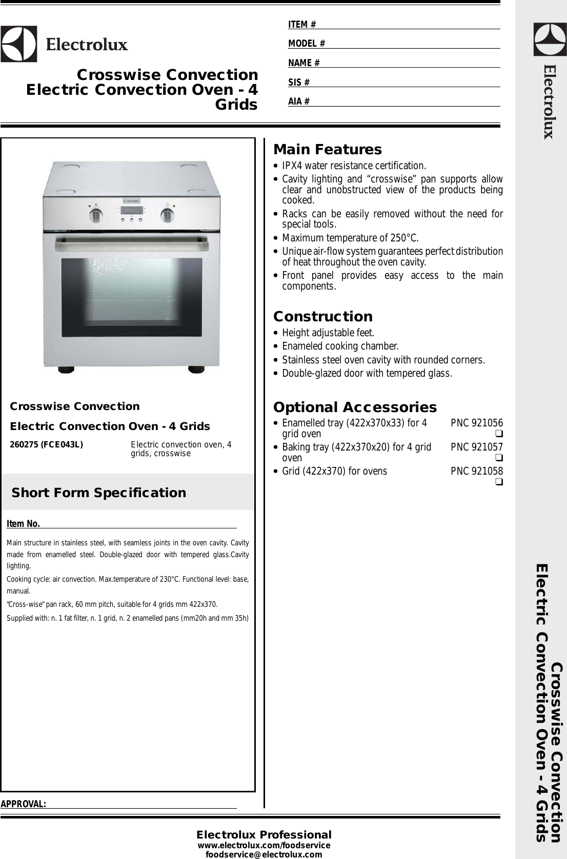 electrolux oven fce043l users manual Instruction Manual User Guide Template