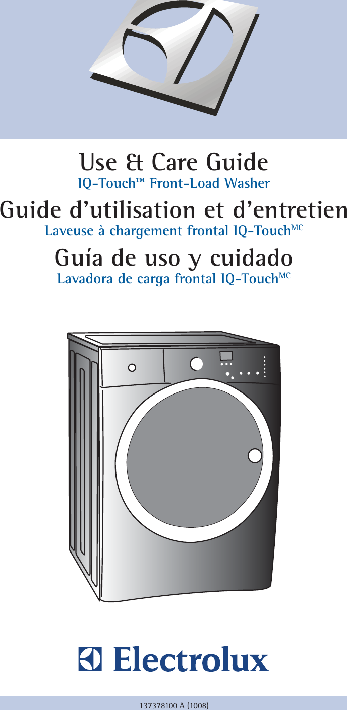 Electrolux IQ-TOUCH 137378100 A