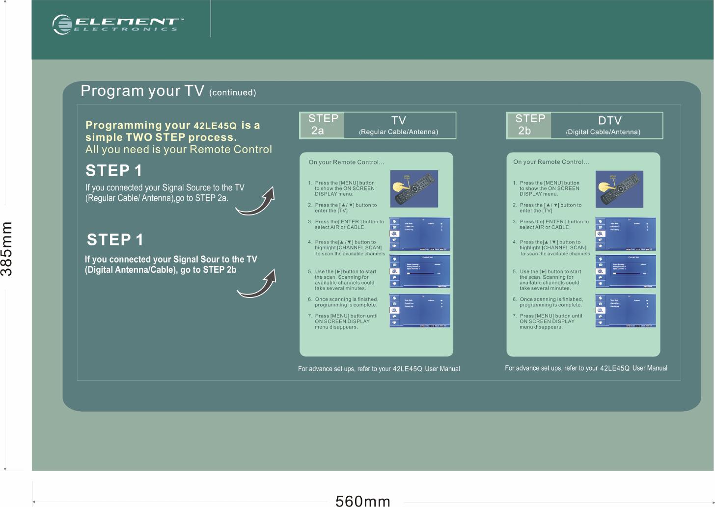 Element Electronics 42Le45Q Users Manual