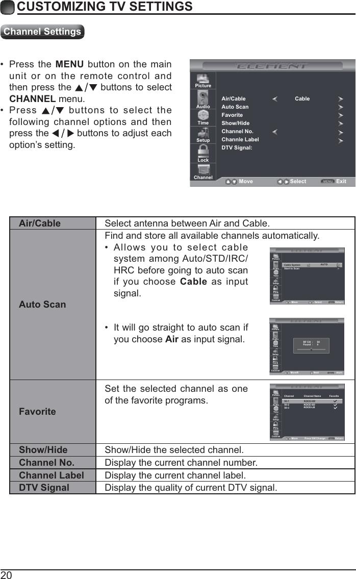 Element Electronics Elefw401A Users Manual