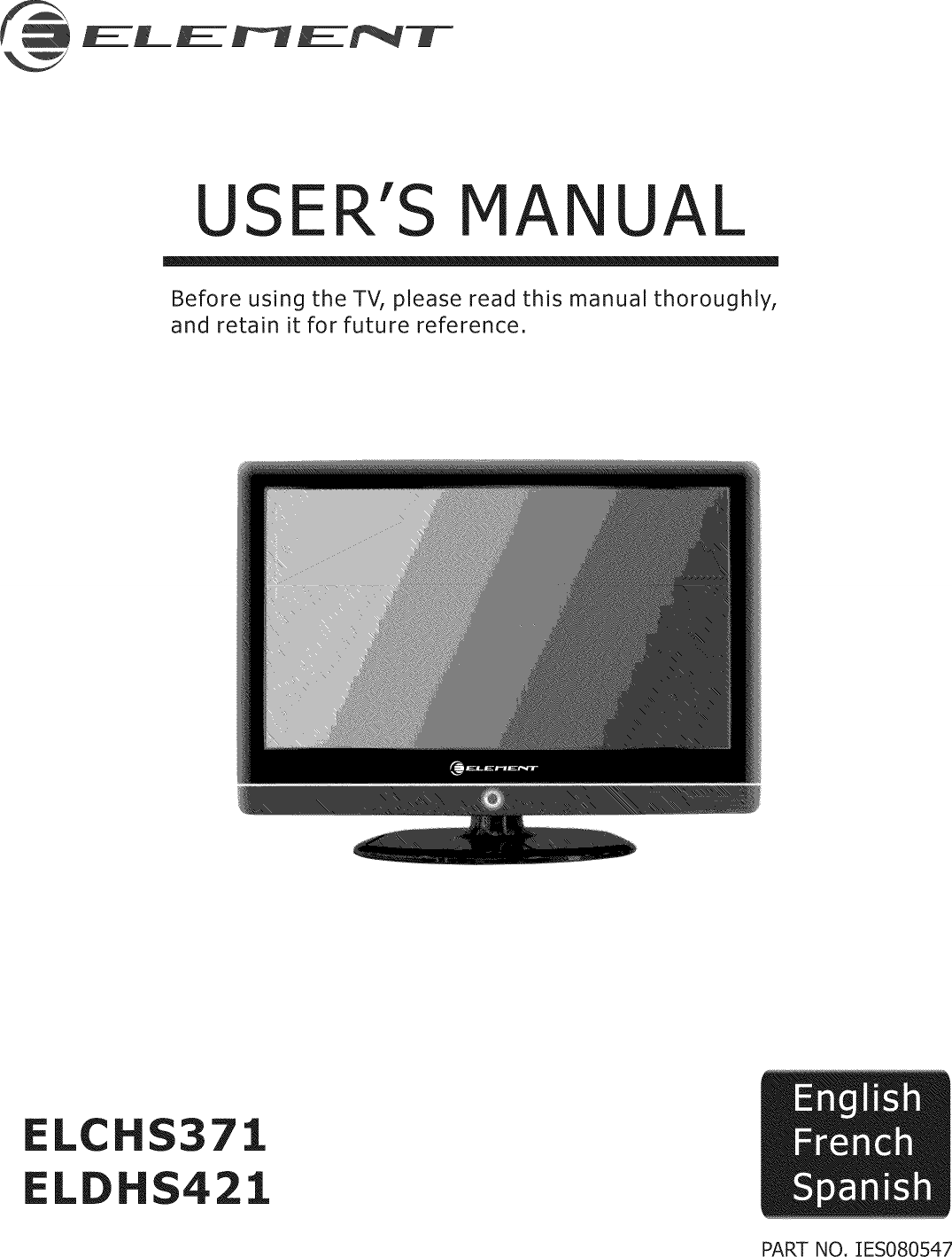 Element Elchs371 User Manual Tv Lcd Manuals And Guides L0811838 Computer Parts Diagram For Kids Users Will Label The