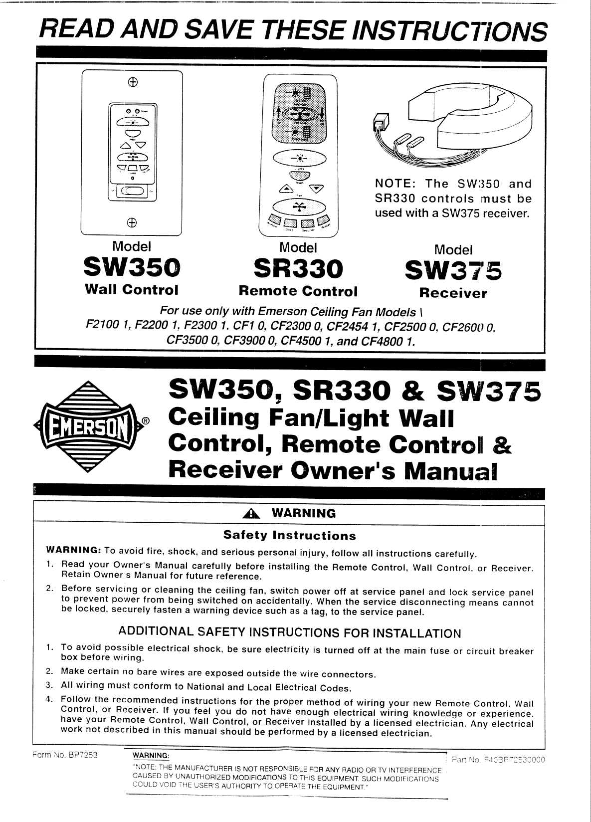 emerson electric co sw350 wall control user manual owners manual rh usermanual wiki used owners manual for 2009 chevrolet hhr used owners manual 2008 ford escape