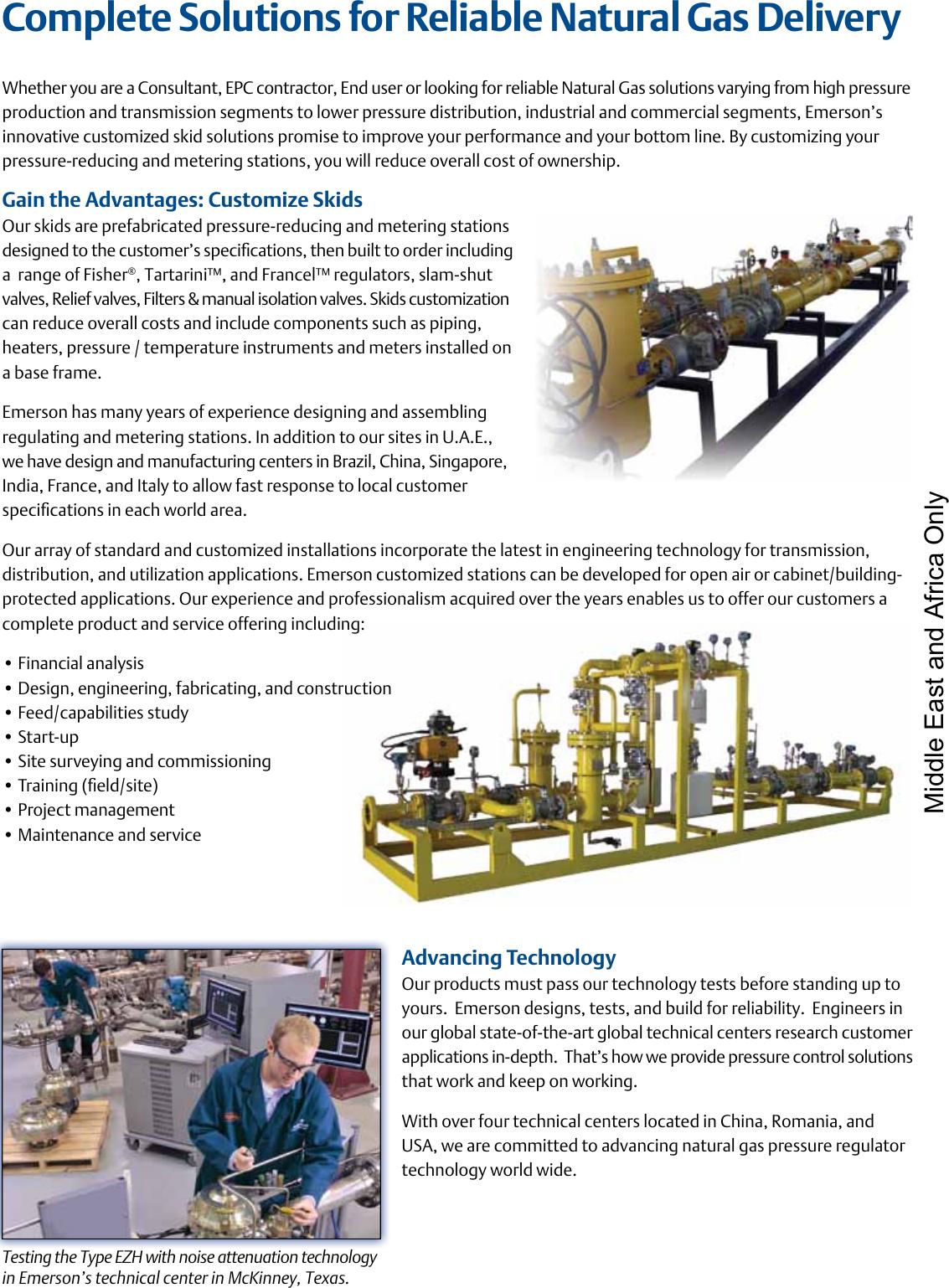 Emerson 133 Series Pressure Reducing Regulators Brochure