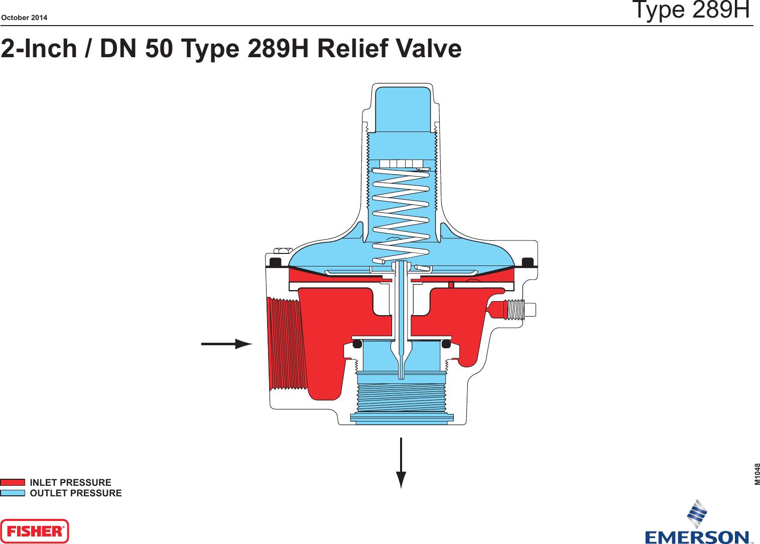 Emerson 289 Series Relief Valves Backpressure Regulators