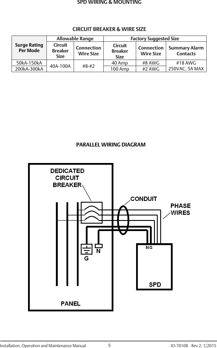 Emerson 460 Surge Protective Device Installation Manual Io Protection Wiring Diagram Page 6 Of 8