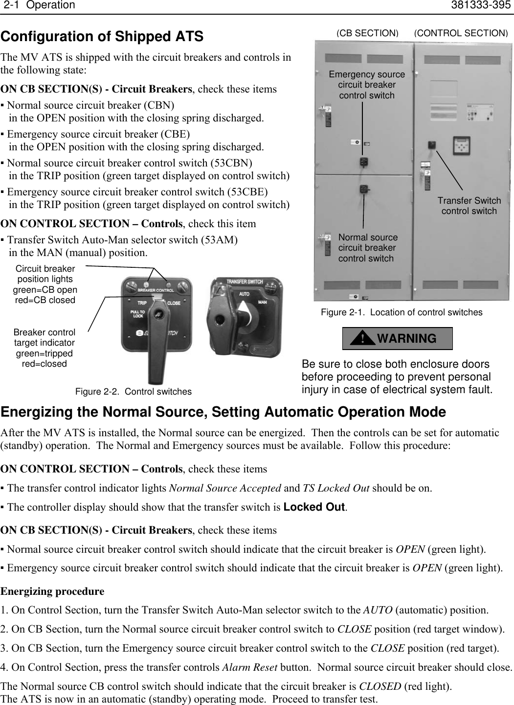Emerson Asco 7000 Series Medium Voltage Transfer Switch Users Manual Automatic Wiring Diagram Page 4 Of 12