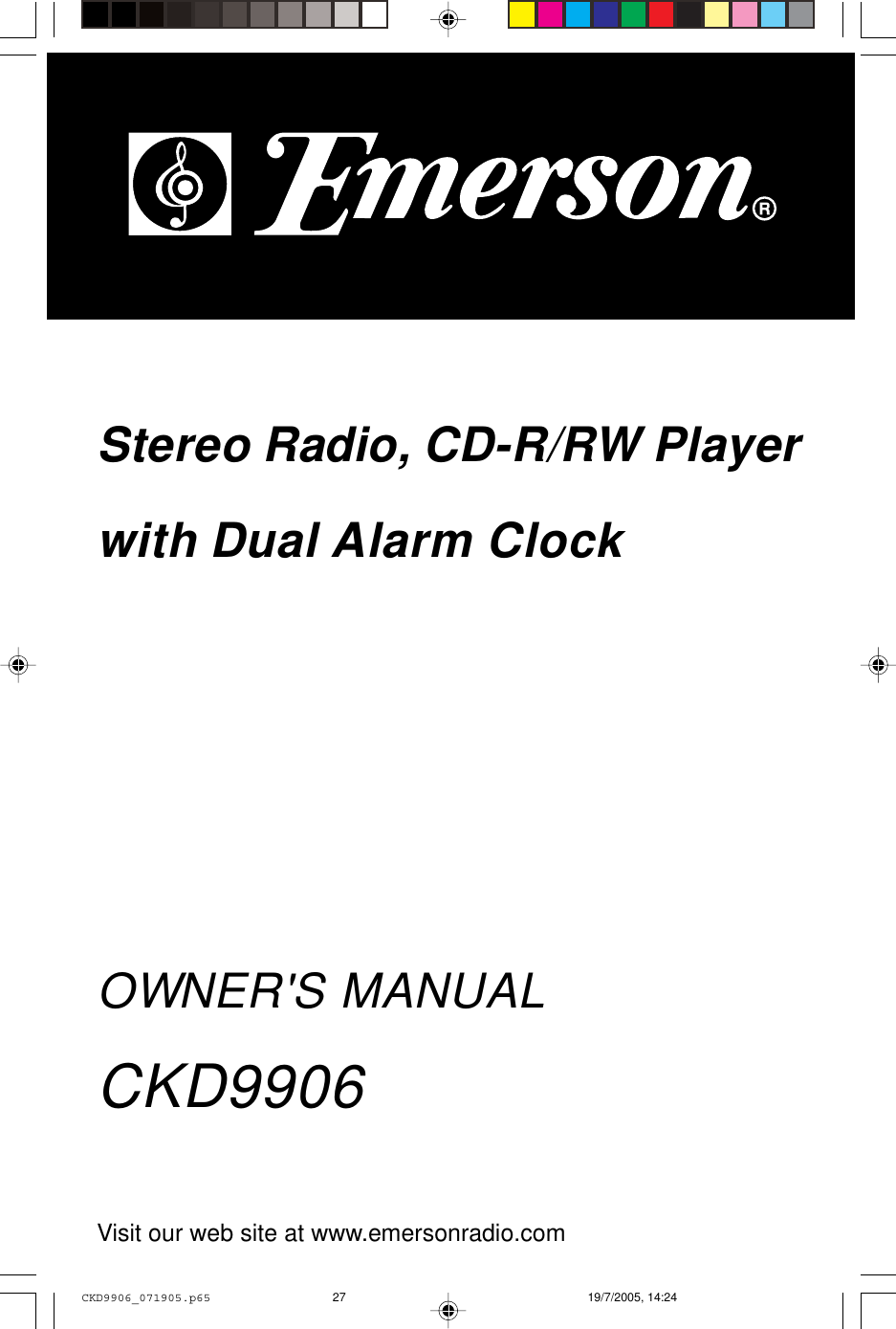 emerson ckd9906 owners manual