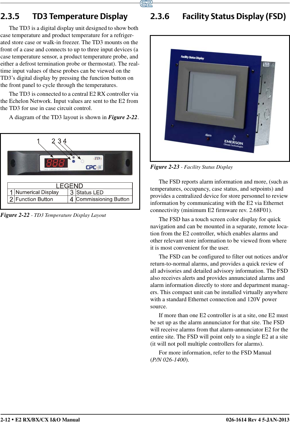 Emerson E2 Users Manual E3