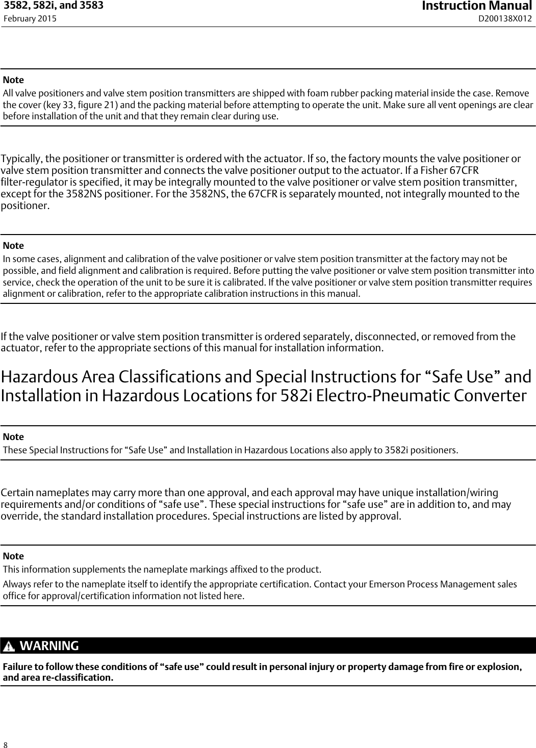 Emerson Fisher 3582 Instruction Manual D200138X012_Feb15_AQ