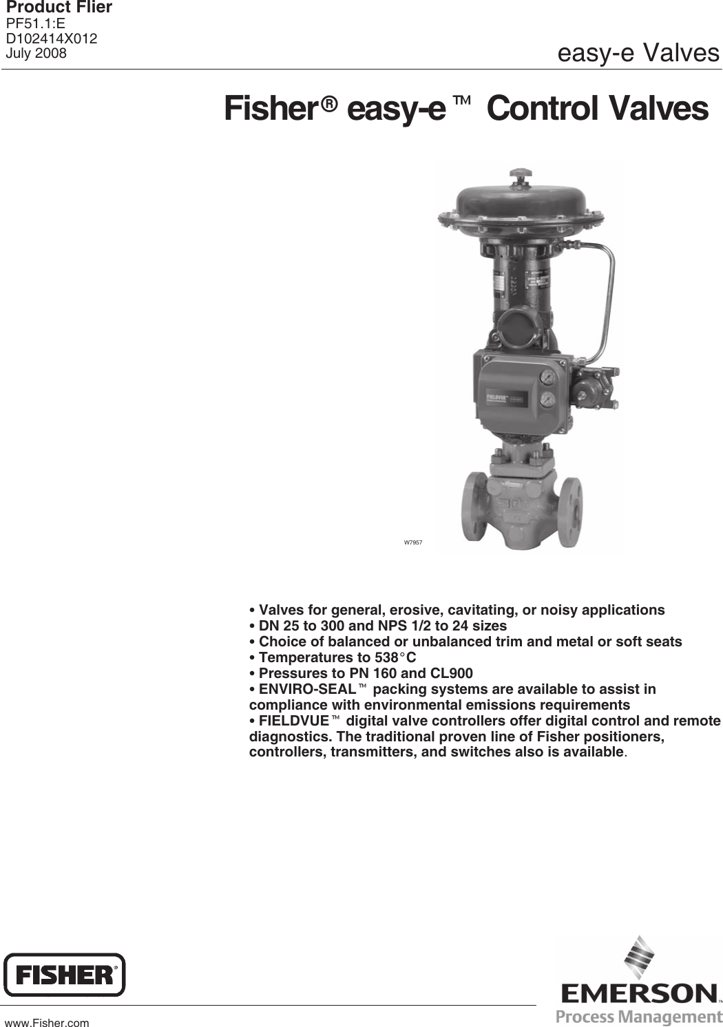 Fisher d3 valve Manual