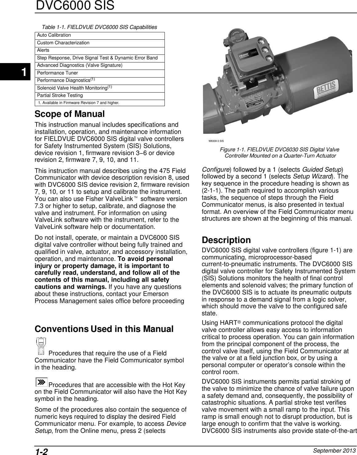 Emerson Fisher Fieldvuedvc6200 Sis Digital Valve Controller