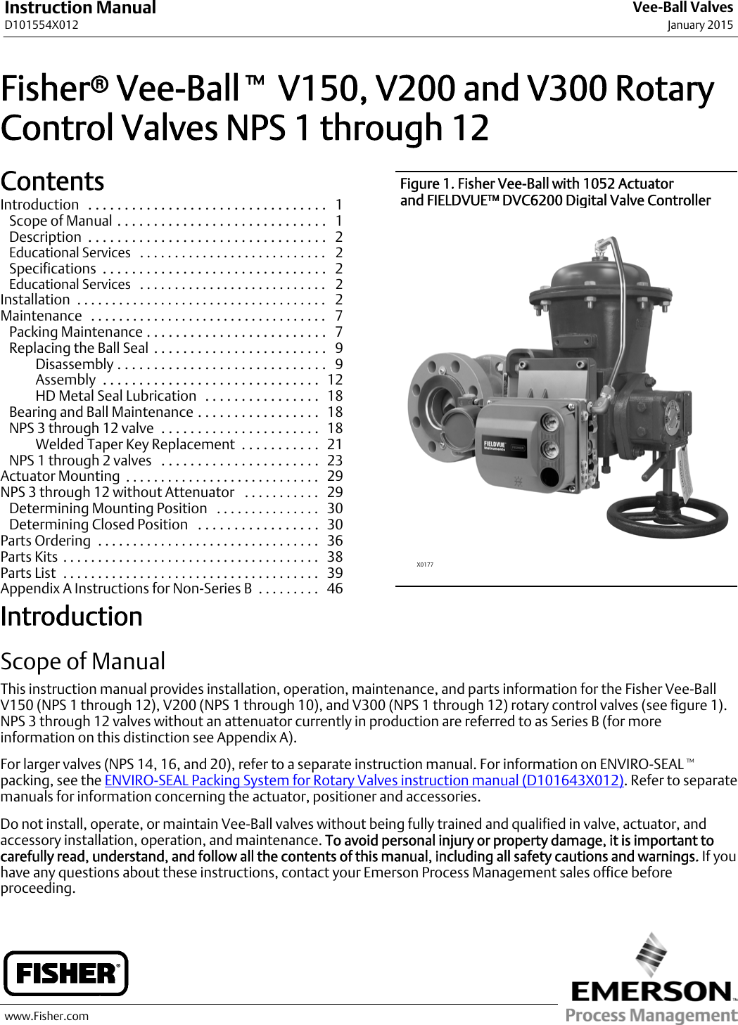 fisher v150 instruction manual