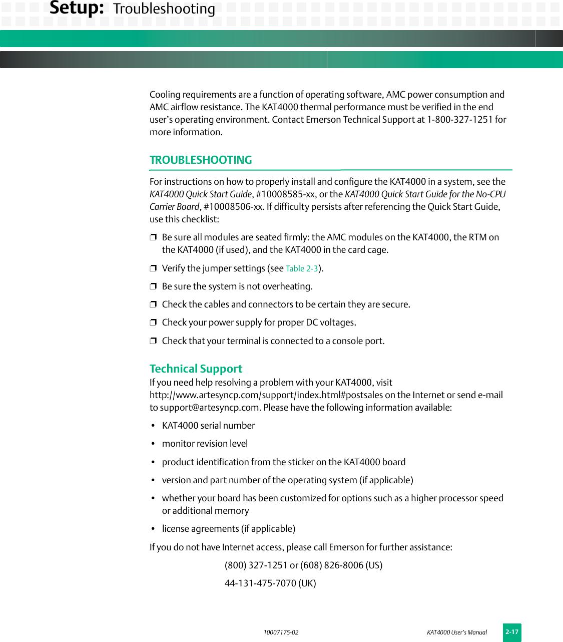 Emerson Kat4000 Users Manual