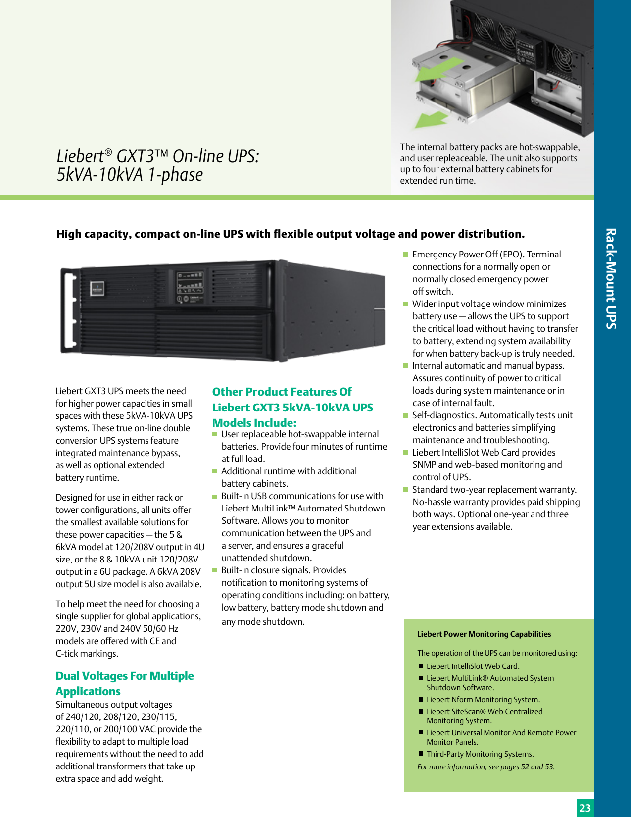 Emerson Liebert Apm On Line Ups 15 90Kw Brochures And Data Sheets