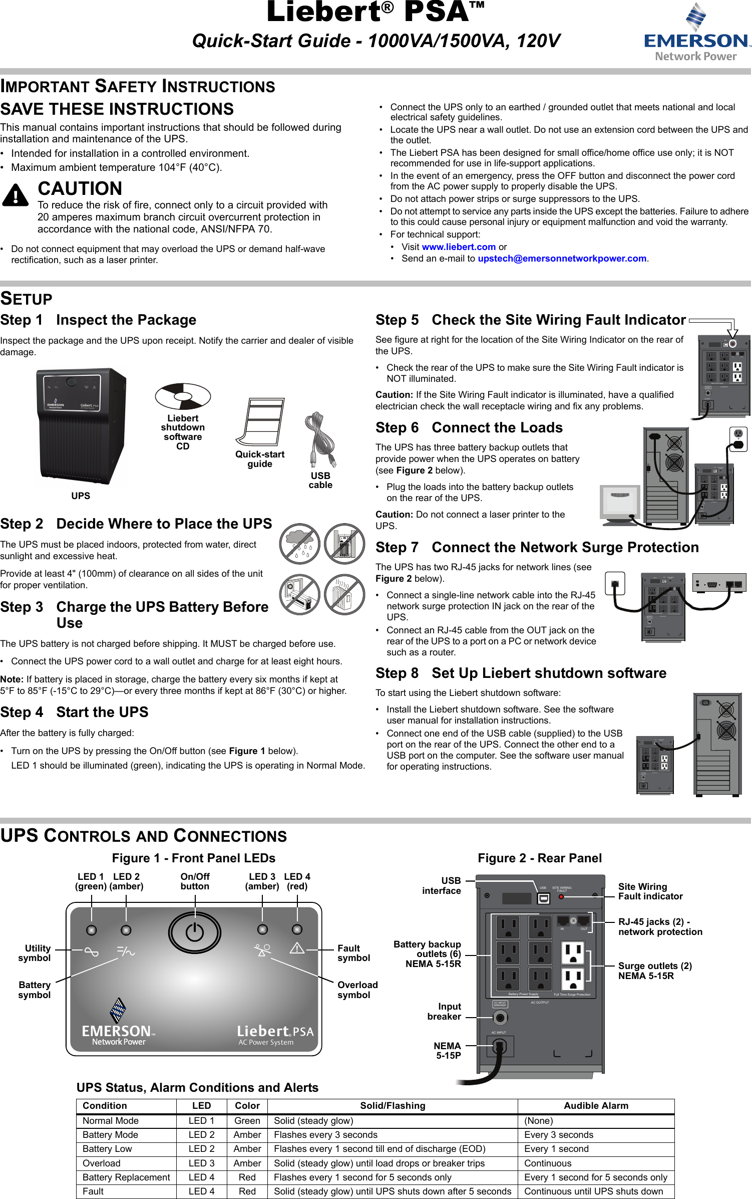 emerson liebert psa line interactive ups 500 1500va quick start manual rh usermanual wiki PSA 3 Brooklyn Insidous 3