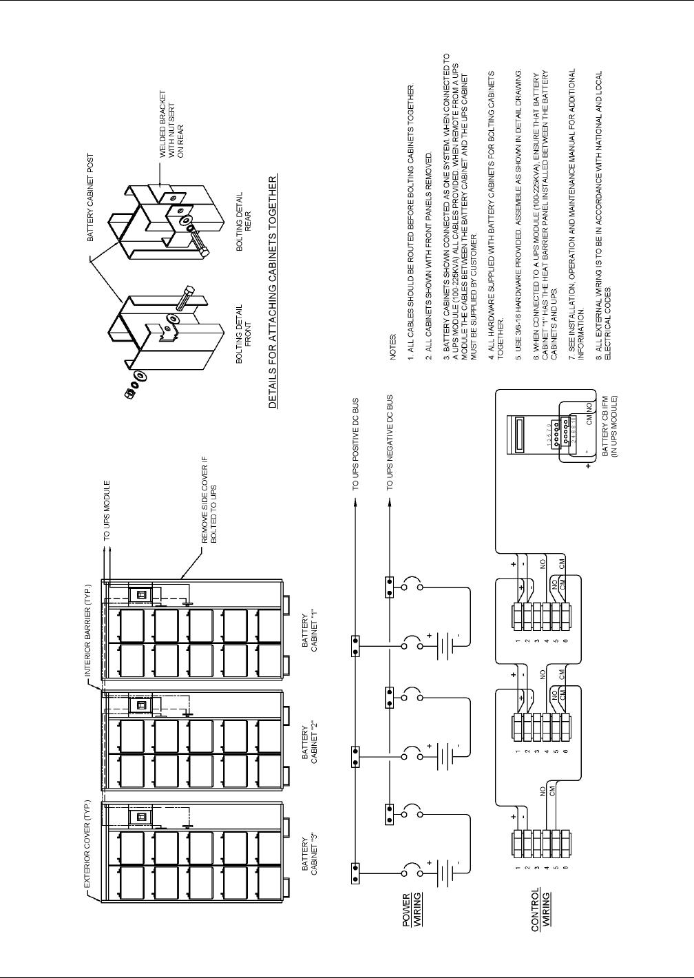 Emerson Liebert Series 610 Ups Users Manual Rack Mounted Wiring Diagram Installation Drawings